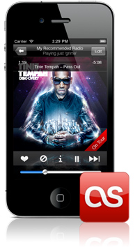 Last.fm on iPhone 4
