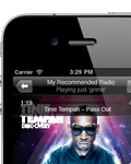 Tela do Last.fm para iPhone